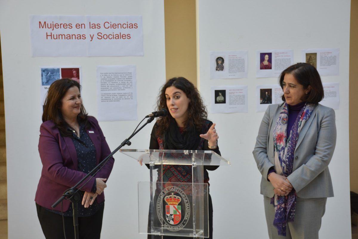 El Ayuntamiento respalda la exposición 'Mujeres en las Ciencias Humanas y Sociales' de la Facultad de Humanidades