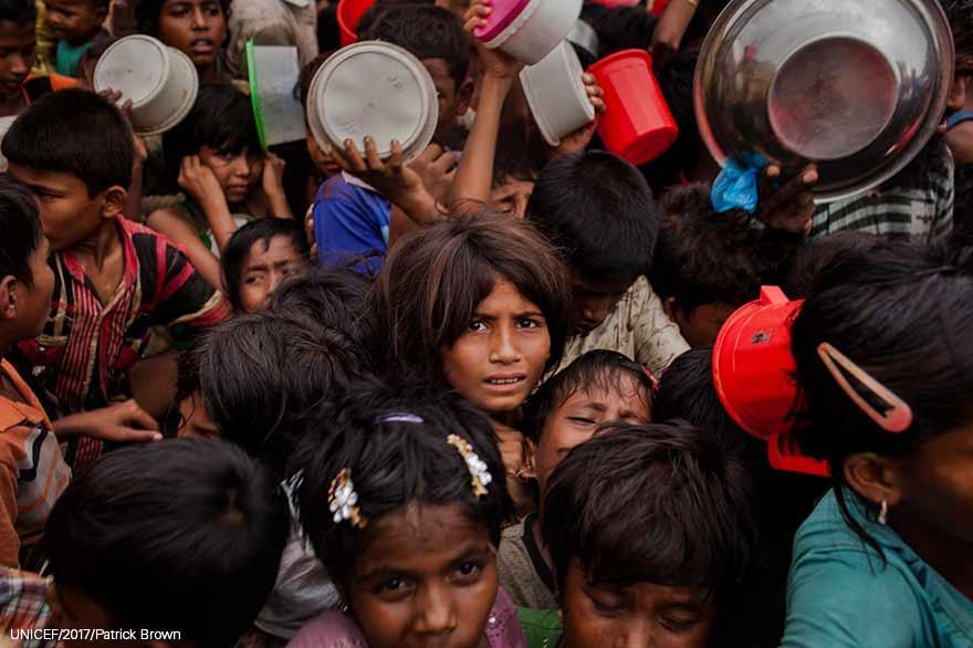 Niños rohingya: tifones y más violencia empeoran su infierno