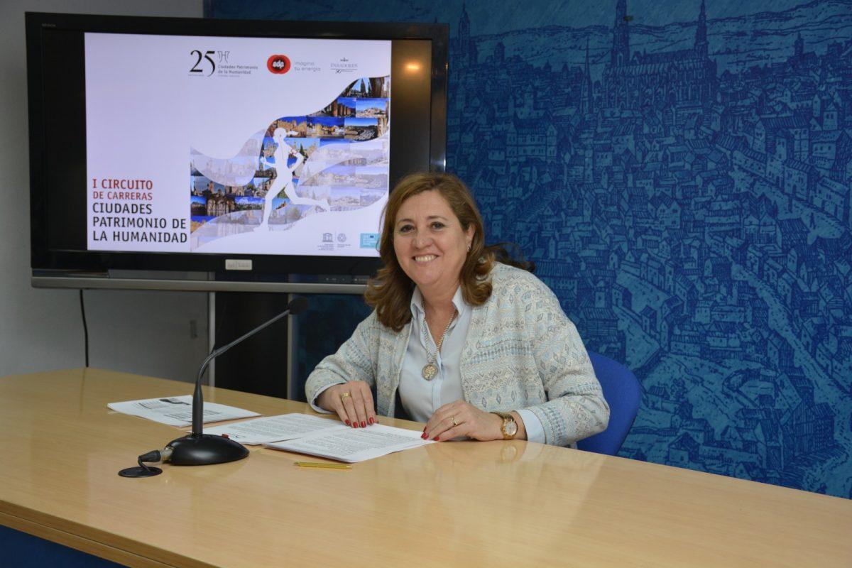 https://www.toledo.es/wp-content/uploads/2018/02/rosa-rodriguez_carrera_patrimonio_1-1200x800.jpg. El Grupo Ciudades Patrimonio incluye la 'Cigarra Toledana' en el I Circuito de Carreras organizado con motivo de su 25 aniversario