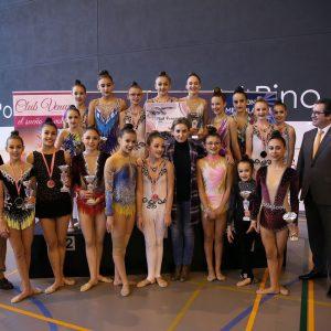 La alcaldesa participa en la entrega de premios del XXVI Trofeo Nacional de Gimnasia Rítmica en el que participan 300 gimnastas