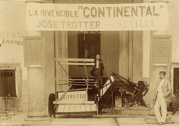 10 - Sección de Máquinas - Segadora y atadora presentada por José Trotter (Sevilla)