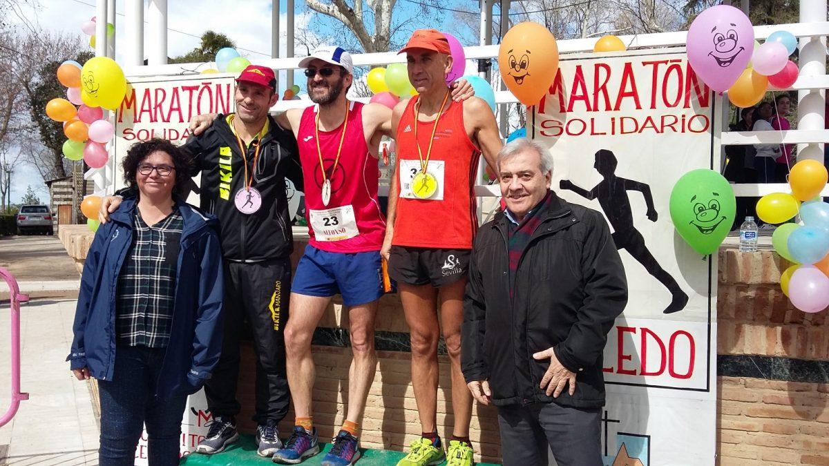 http://www.toledo.es/wp-content/uploads/2018/03/podio-masculino-1200x675.jpg. El Ayuntamiento colabora en la VII edición de la Maratón Solidaria en la que han participado medio centenar de atletas