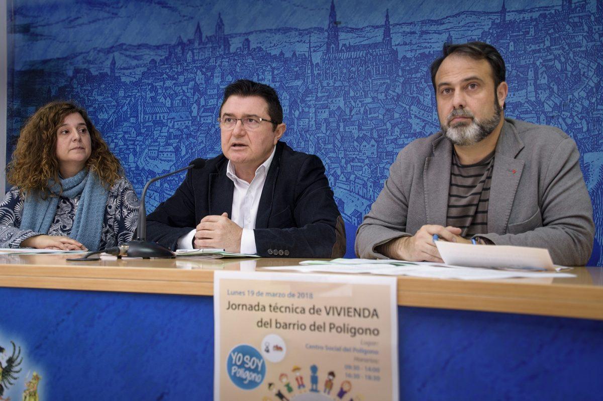 https://www.toledo.es/wp-content/uploads/2018/03/presentacion-jornada-vivienda-1-1200x798.jpg. El barrio del Polígono celebra el próximo lunes 19 de marzo su primera Jornada Técnica de Vivienda