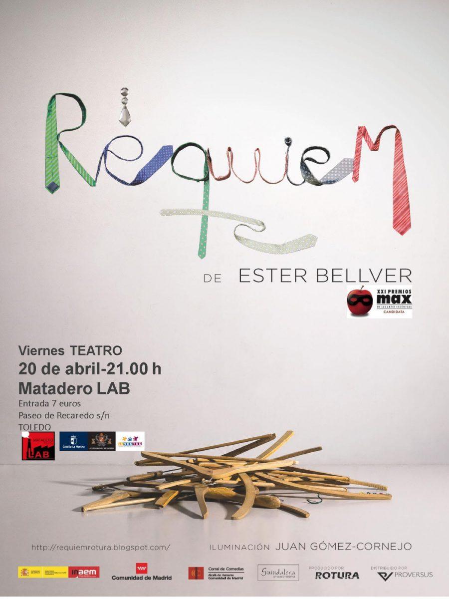 "https://www.toledo.es/wp-content/uploads/2018/03/requiem-cartel-002-900x1200.jpg. TEATRO: ""RÉQUIEM"" por Ester Bellver.  Cía ROTURA"