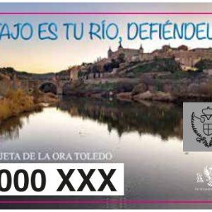 a tarjeta de la ORA que aplica la tarifa especial a residentes en las zonas azul y naranja se dedica este año a la defensa del río