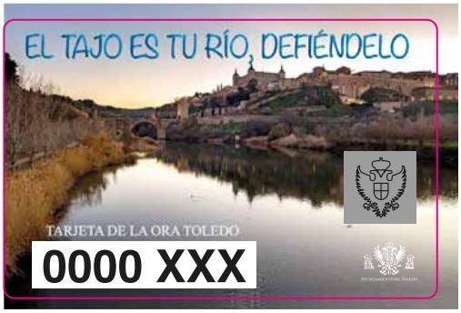 http://www.toledo.es/wp-content/uploads/2018/03/tarjeta-tarifa-especial.jpg. La tarjeta de la ORA que aplica la tarifa especial a residentes en las zonas azul y naranja se dedica este año a la defensa del río