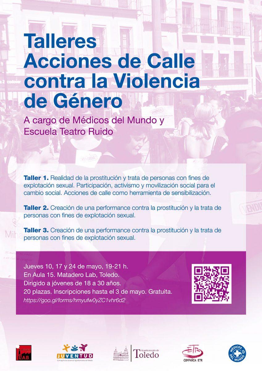 """Talleres """"Acciones de calle contra la violencia de género"""""""