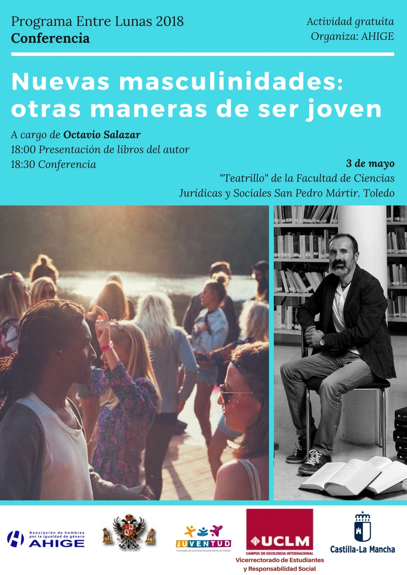"""https://www.toledo.es/wp-content/uploads/2018/04/ahige.jpg. Conferencia / Coloquio """"Nuevas masculinidades: Otras maneras de ser joven"""""""