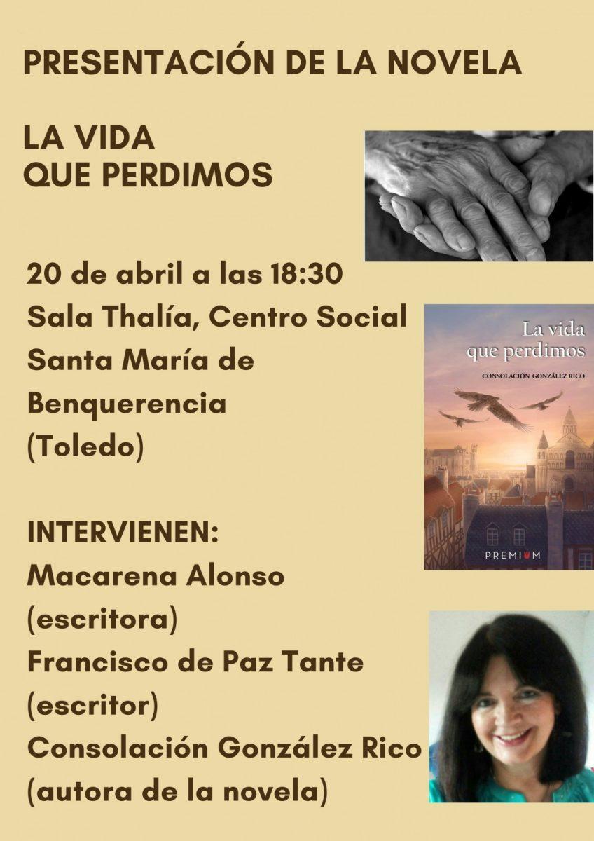 Presentación de la novela LA VIDA QUE PERDIMOS