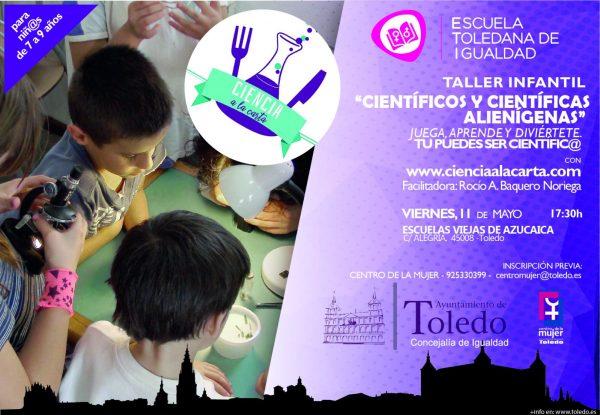 "http://www.toledo.es/wp-content/uploads/2018/04/cientificos-y-cientificas-alienigeas.jpg. Taller Infantil ""Científicos y científicas alienígenas"""