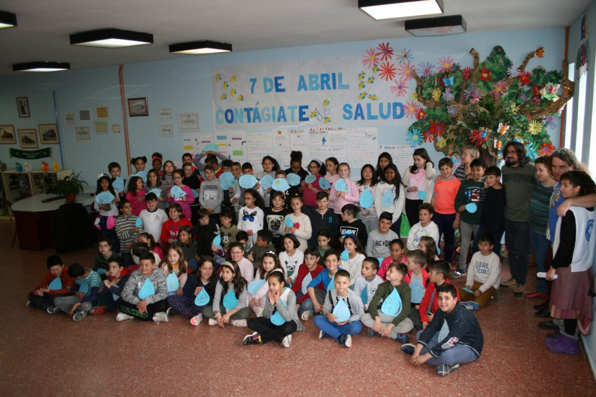 Escolares del 'Jaime de Foxa' participan en un proyecto de Educación para el Desarrollo sobre el Día Mundial de la Salud