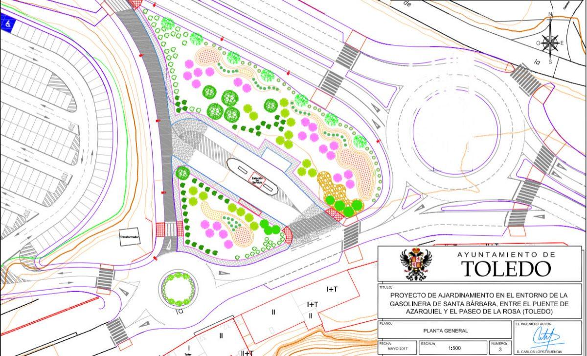 El Ayuntamiento dignificará el entorno de la gasolinera de Santa Bárbara con la plantación de 3.500 arbustos y 29 nuevos árboles