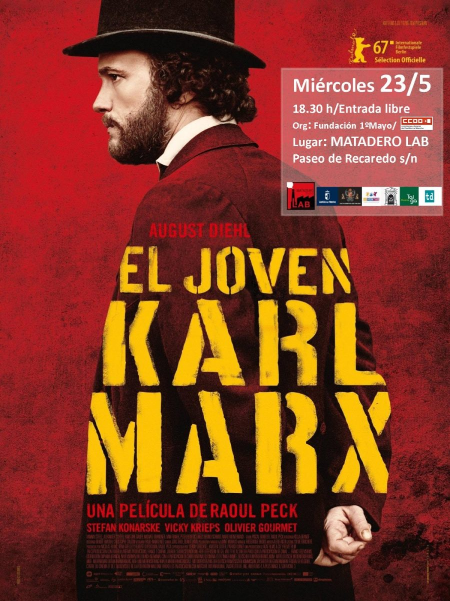 "http://www.toledo.es/wp-content/uploads/2018/04/karl-marx-900x1200.jpg. Cine: ""EL JOVEN KARL MARX"" Dr: Raoul Peck."