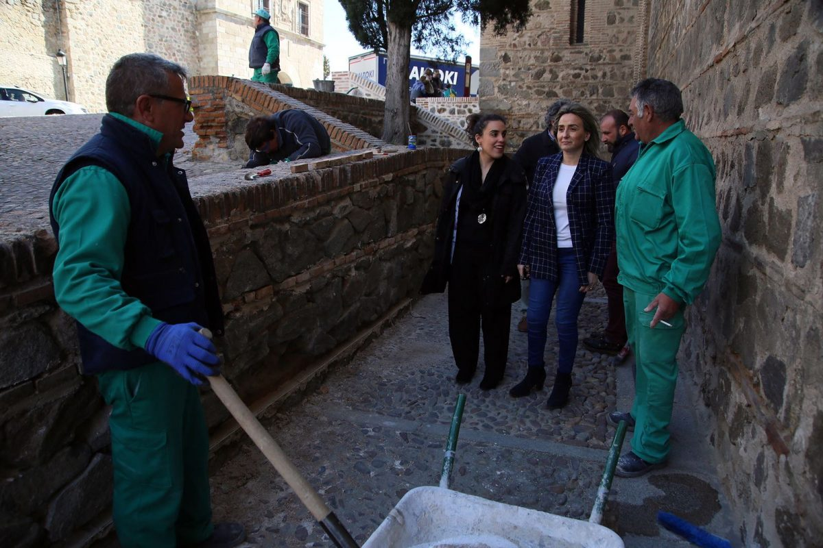 El Plan de Recuperación de Muros de Mampostería interviene en el entorno de Santiago del Arrabal dando respuesta a demandas ciudadanas