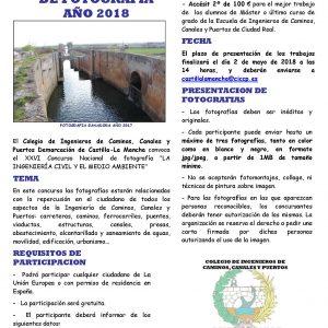 """XXVI Concurso Nacional de fotografía """"LA INGENIERÍA CIVIL Y EL MEDIO AMBIENTE"""""""