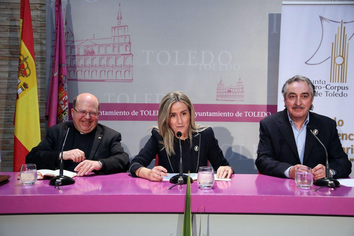 https://www.toledo.es/wp-content/uploads/2018/05/01_conferencia_corpus-1200x800.jpg. Milagros Tolón destaca que el ciclo 'Corpus Christi en Toledo' ha acercado la fiesta a la ciudadanía desde la tradición y la historia
