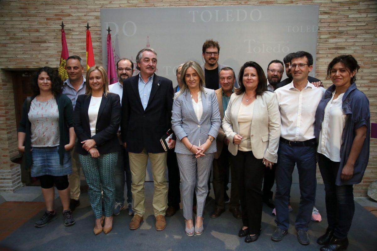 """https://www.toledo.es/wp-content/uploads/2018/05/01_rueda_prensa_corpus_2018-1200x800.jpg. Milagros Tolón presenta la Semana Grande del Corpus, """"nuestra mejor seña de identidad"""", con una gran programación cultural"""