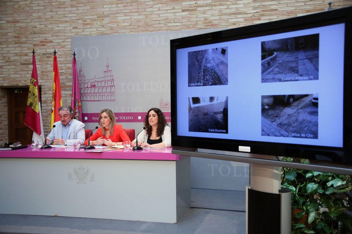 http://www.toledo.es/wp-content/uploads/2018/05/01_rueda_prensa_pavimentos-1200x800.jpg. La alcaldesa anuncia un Plan de Recuperación de Pavimentos con más de 40 actuaciones en el Casco Histórico y Santa Bárbara