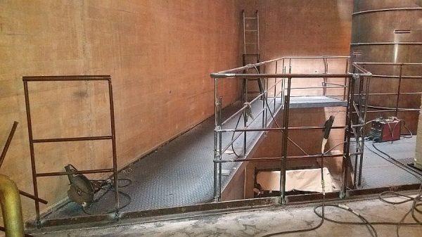 021 13-09-2017 Construcción del encuentro entre las dos pasarelas