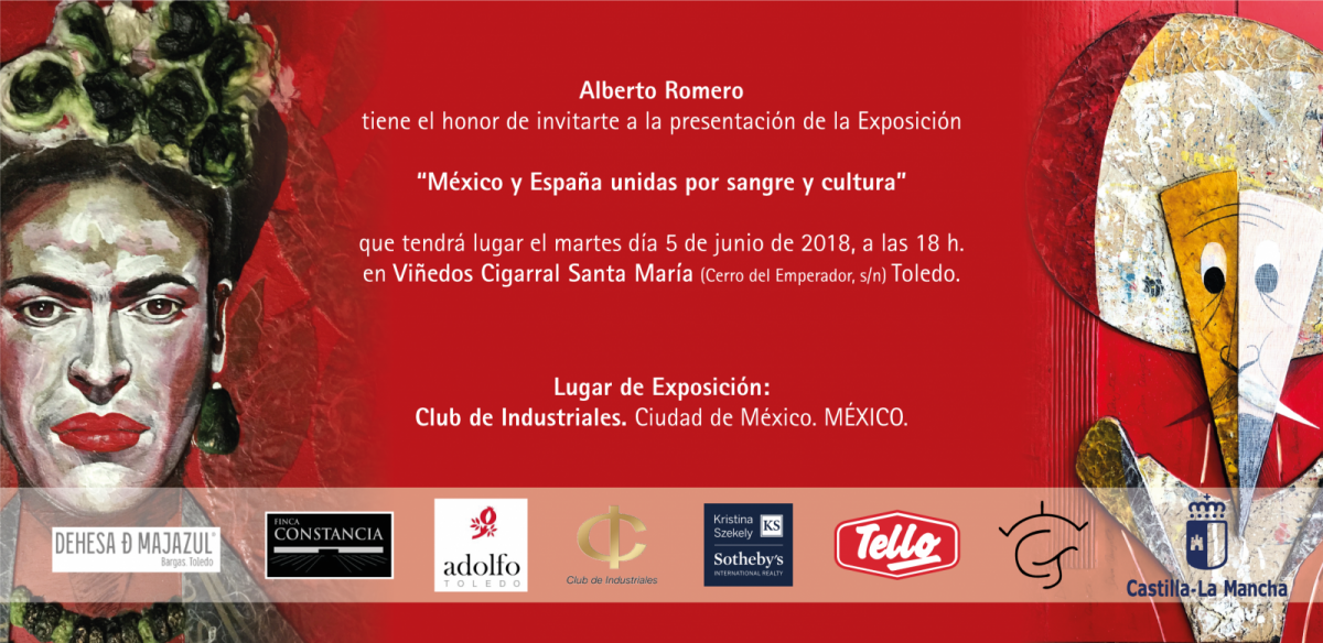 """https://www.toledo.es/wp-content/uploads/2018/05/alberto-romero-1200x584.png. Presentación Exposición """"México y España unidas por sangre y cultura"""""""