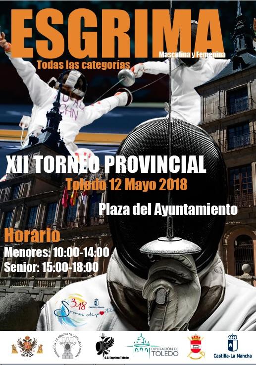 https://www.toledo.es/wp-content/uploads/2018/05/cartel-esgrima.jpg. La plaza del Ayuntamiento se convierte este sábado en escenario del XII Torneo Provincial de Esgrima con cerca de 70 tiradores