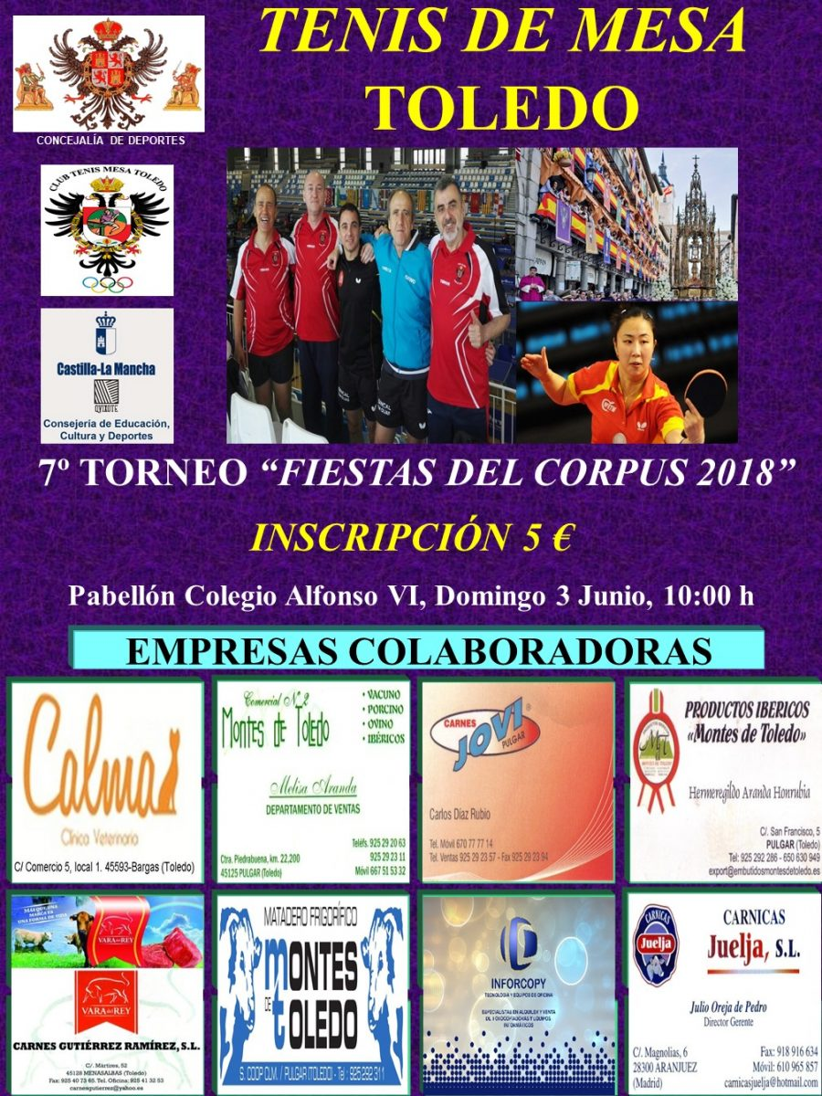 https://www.toledo.es/wp-content/uploads/2018/05/cartel-trofeo-corpus-2018-900x1200.jpg. VI Torneo Corpus Christi de Tenis de Mesa