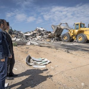 El Ayuntamiento lleva cabo el desmantelamiento de uno de los sectores chabolistas del Cerro de los Palos