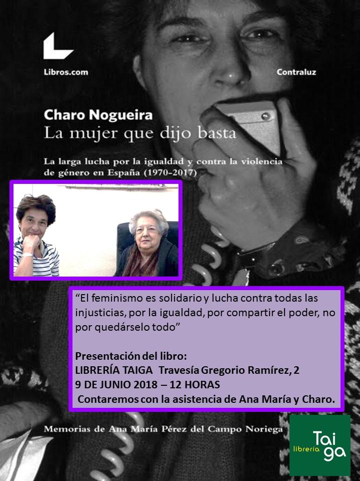 """https://www.toledo.es/wp-content/uploads/2018/05/charo-noriega.jpg. Presentación del libro """"La mujer que dijo basta"""""""