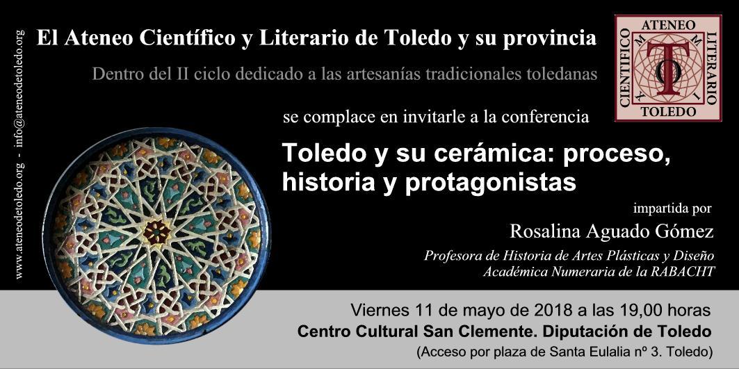 https://www.toledo.es/wp-content/uploads/2018/05/conferencia-rosalina-aguado.jpg. II Ciclo dedicado a la Artesanía tradicional toledana