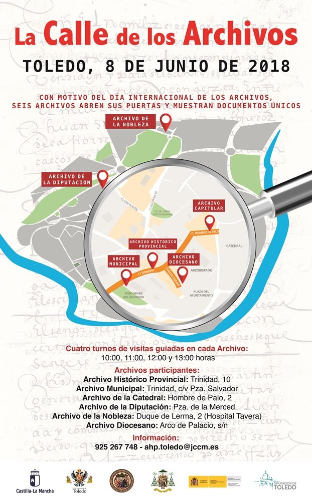 https://www.toledo.es/wp-content/uploads/2018/05/diaarchivos2018.jpg. Jornada de Puertas Abiertas La Calle de los Archivos 2018