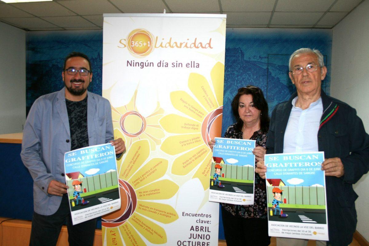 El Ayuntamiento y La Voz del Barrio organizan un concurso de graffitis centrado en los lemas de la campaña Solidaridad 365+1