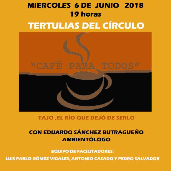 """https://www.toledo.es/wp-content/uploads/2018/05/junio2018-copia.jpg. Tertulia """"Café para todos"""""""