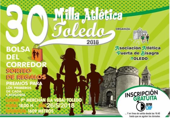 http://www.toledo.es/wp-content/uploads/2018/05/milla-atletica.jpg. La Milla Atlética de Toledo cumple tres décadas de historia y deporte con una nueva cita este sábado en el Paseo Merchán