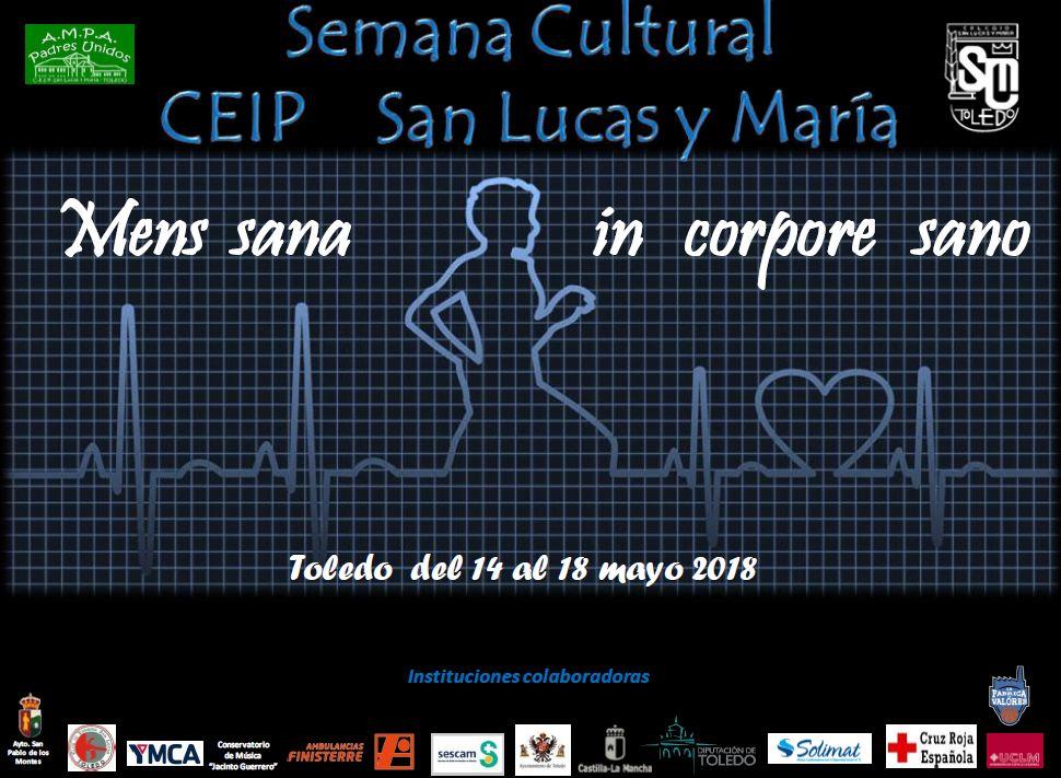 """https://www.toledo.es/wp-content/uploads/2018/05/semana-cultural.jpg. Conferencia """"Determinantes de la salud: sensibilización, concienciación y reflexión sobre los mismos"""""""