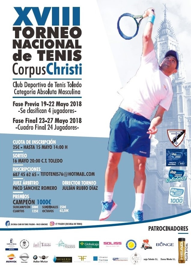 http://www.toledo.es/wp-content/uploads/2018/05/tenis-corpus.jpg. La final del XVIII Torneo Nacional de Tenis 'Corpus Christi' se disputa este domingo gracias a la colaboración del Ayuntamiento