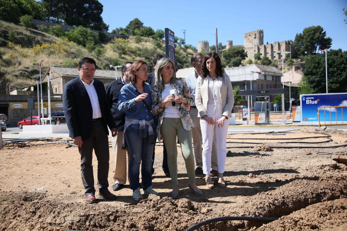 El Ayuntamiento mejora uno de los principales accesos a Toledo con el ajardinamiento del espacio entre Azarquiel y el Paseo de la Rosa