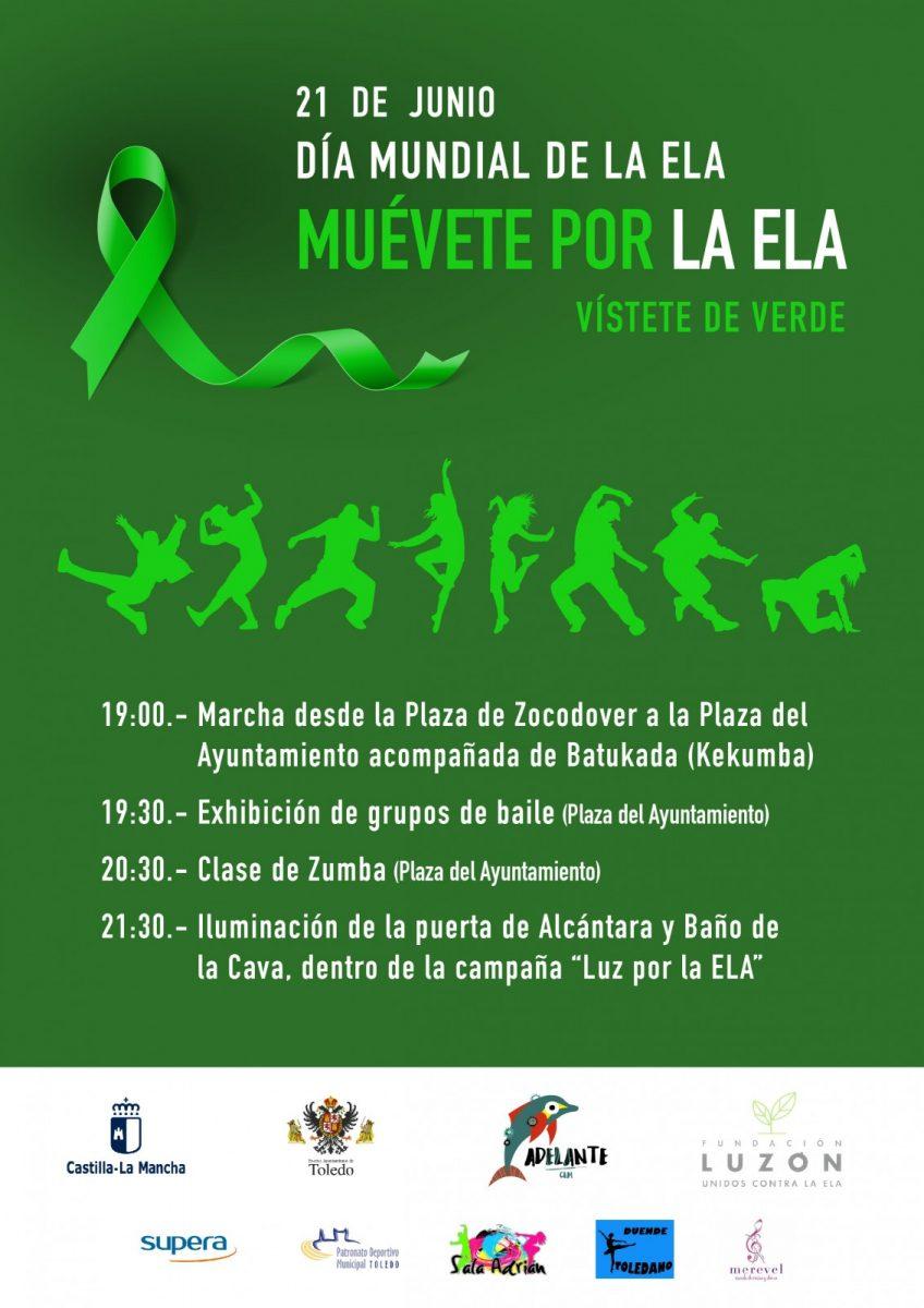 http://www.toledo.es/wp-content/uploads/2018/06/cartelela_2018-848x1200.jpg. Día Mundial de la ELA /  Muévete por la ELA  /  Vístete de Verde