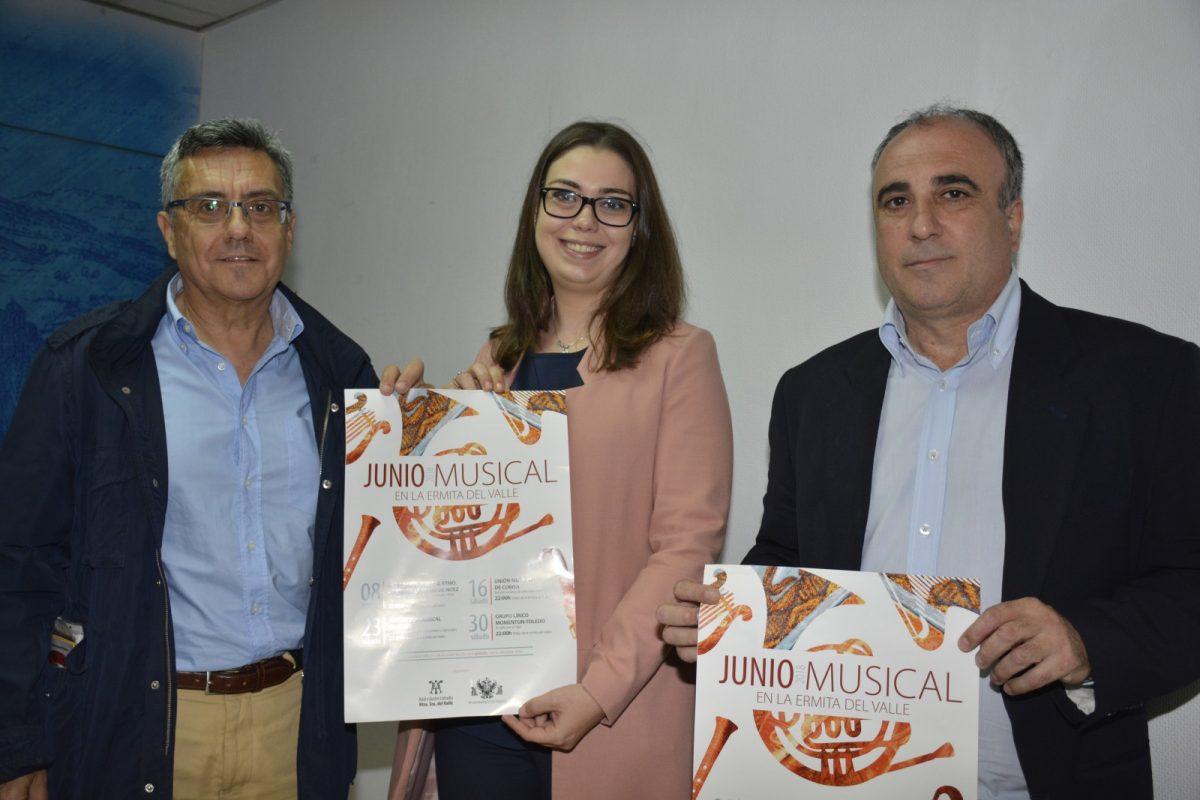 El Ayuntamiento y la Cofradía Nuestra Señora del Valle organizan 'Junio Musical', una nueva iniciativa cultural para los días 8, 16, 23 y 30