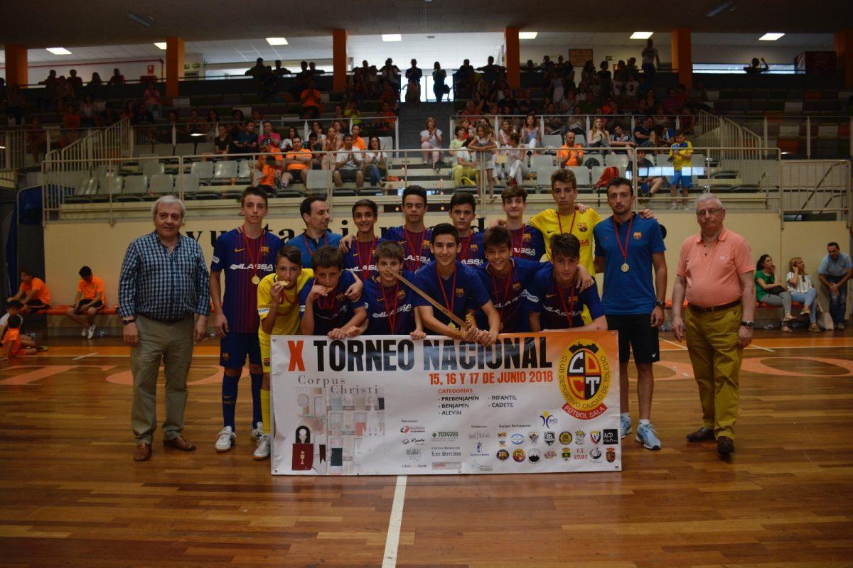 http://www.toledo.es/wp-content/uploads/2018/06/foto-campeones-infantiles--1200x800.jpeg. El Ayuntamiento entrega los trofeos del Torneo Nacional de Fútbol Sala Corpus en el que han participado más de 400 deportistas
