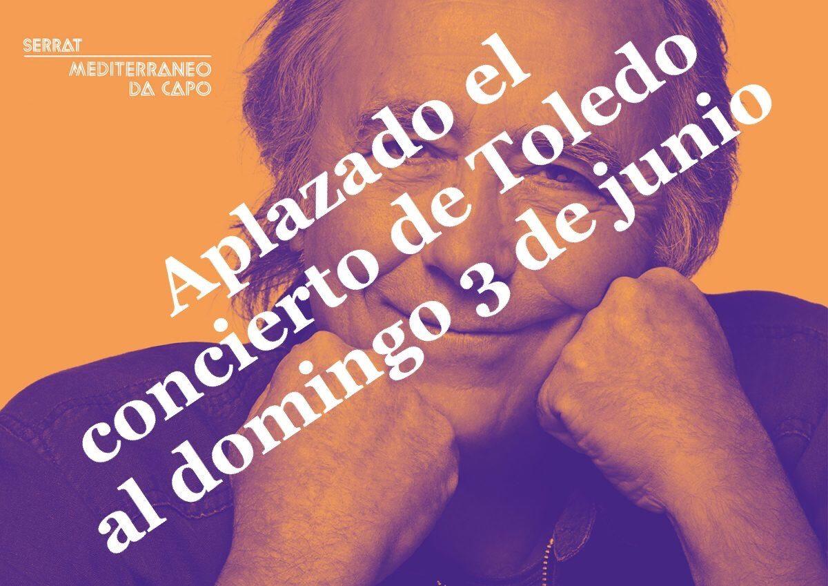 http://www.toledo.es/wp-content/uploads/2018/06/image-1200x849.jpeg. Aplazado el concierto de Joan Manuel Serrat previsto para este sábado; se celebrará el domingo 3 de junio