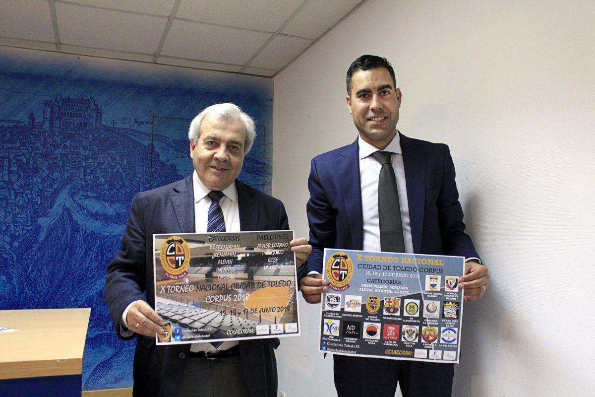 http://www.toledo.es/wp-content/uploads/2018/06/presentacion-torneo-futbol-1200x800.jpg. Más de 400 deportistas se dan cita en Toledo este fin de semana en el X Tornero Nacional Fútbol Sala de Corpus