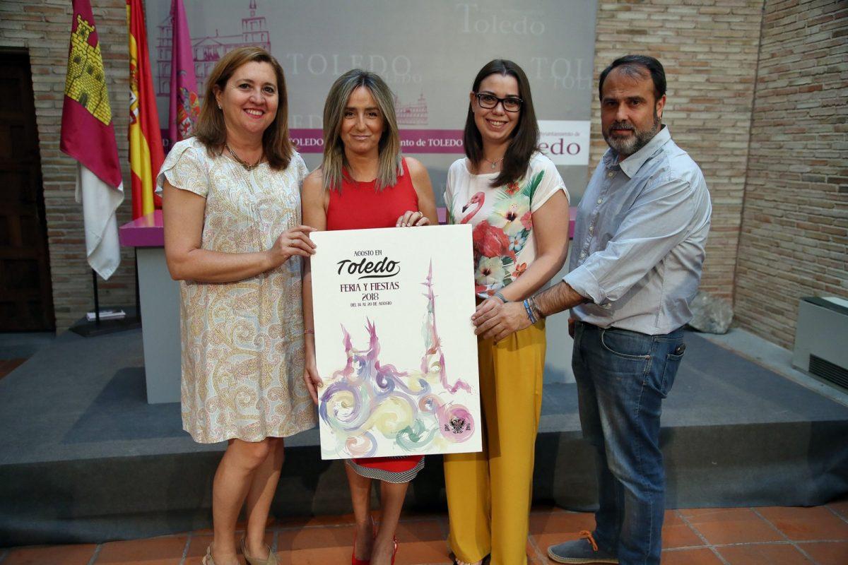 'Acuarelas Festivas', de Belén Arteaga García, será el cartel anunciador de la Feria y Fiestas de Agosto 2018 en Toledo