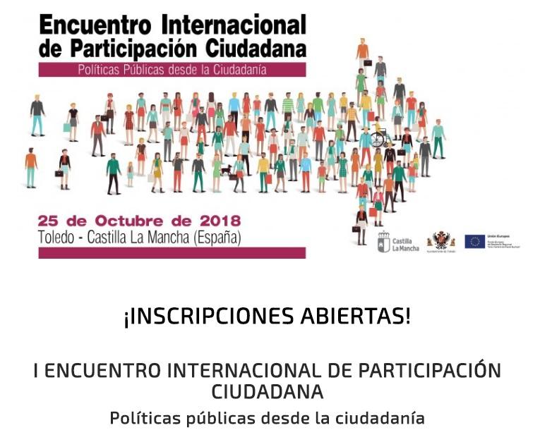Toledo acogerá en octubre el I Encuentro Internacional de Participación Ciudadana de Castilla-La Mancha