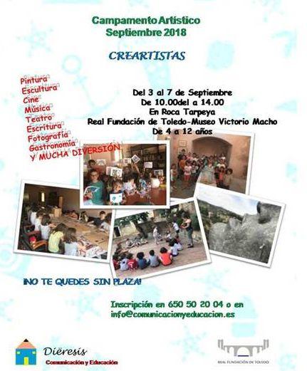 https://www.toledo.es/wp-content/uploads/2018/08/campamento.jpg. CAMPAMENTO ARTÍSTICO: CREARTISTAS