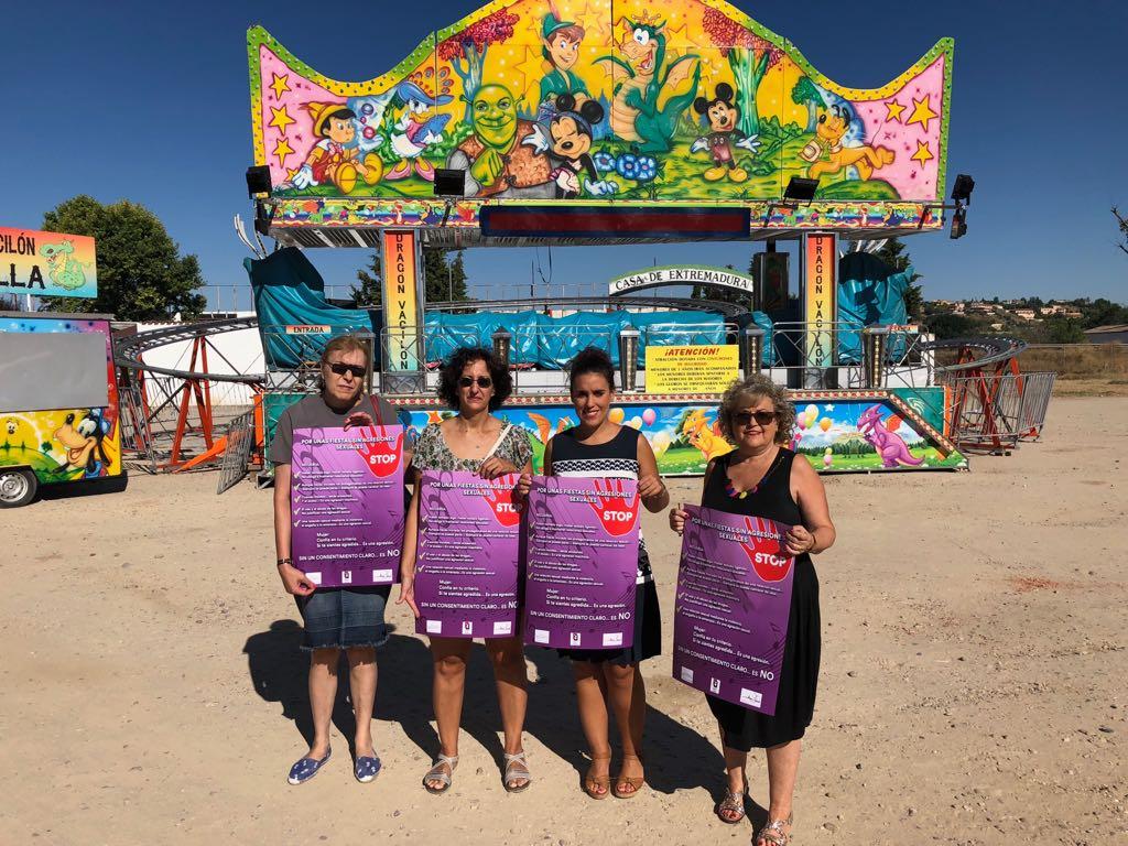 El Consistorio pone en marcha en la Feria, por segundo año, la campaña 'Por unas fiestas sin agresiones sexuales'