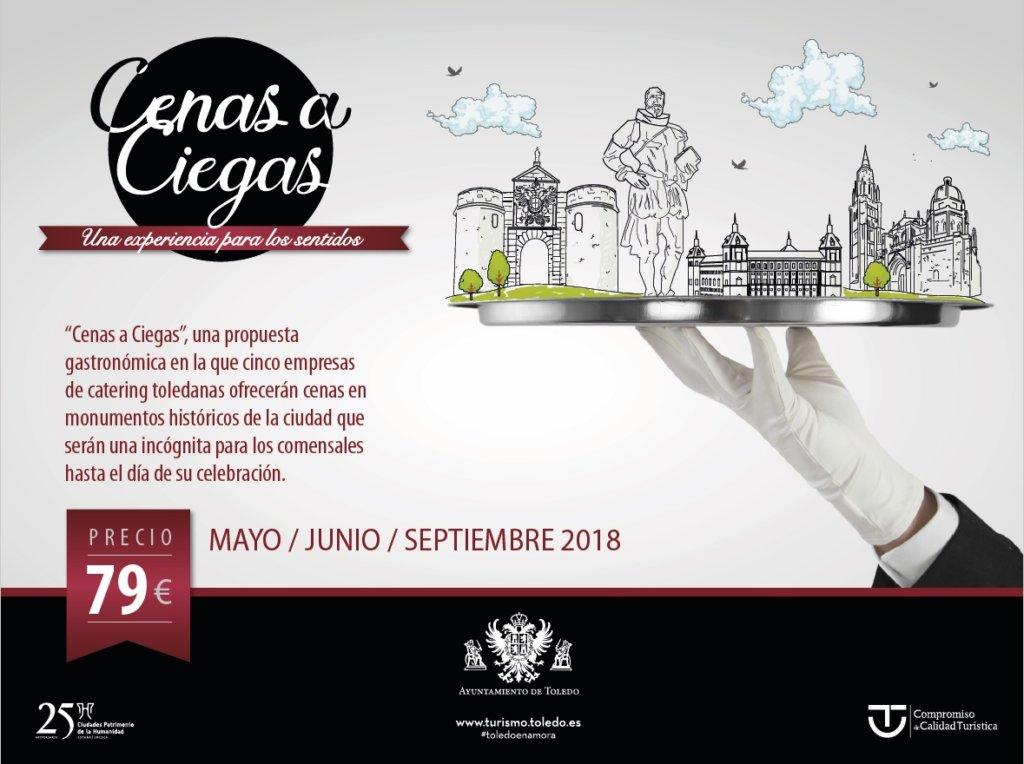 """http://www.toledo.es/wp-content/uploads/2018/08/cartel-4-3-cena-a-ciegas-toledo-2018-1024x764.jpg. 'Cenas a Ciegas' ofrece sus últimas plazas para participar en septiembre de una experiencia """"extraordinaria y sorpresiva"""""""