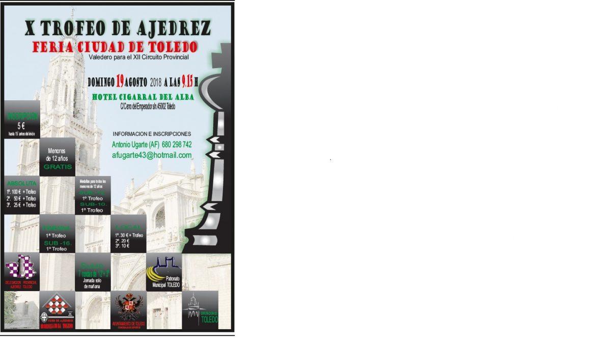 """https://www.toledo.es/wp-content/uploads/2018/08/cartel-ferias-toledo-2018-1200x676.jpg. X Torneo de Feria de Ajedrez """"Ciudad de Toledo"""""""