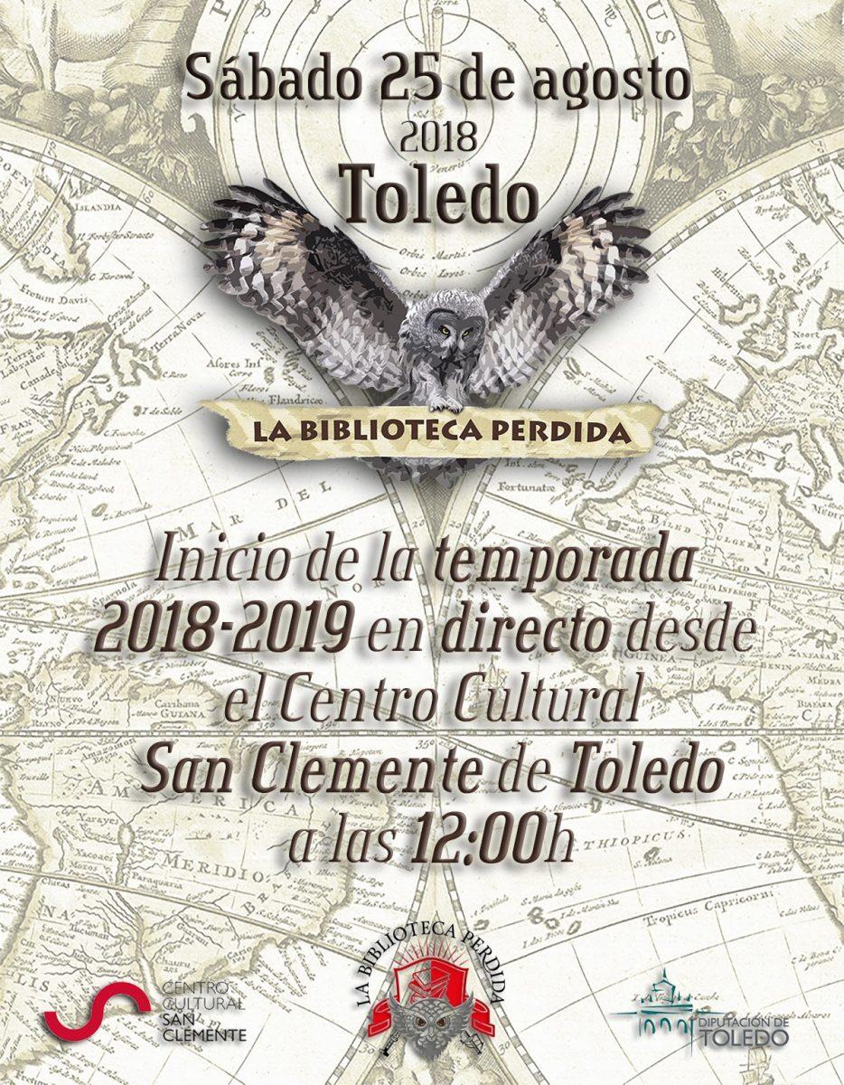 https://www.toledo.es/wp-content/uploads/2018/08/cartel-la-biblioteca-perdida-934x1200.jpg. Emisión en directo del programa de radio La biblioteca perdida