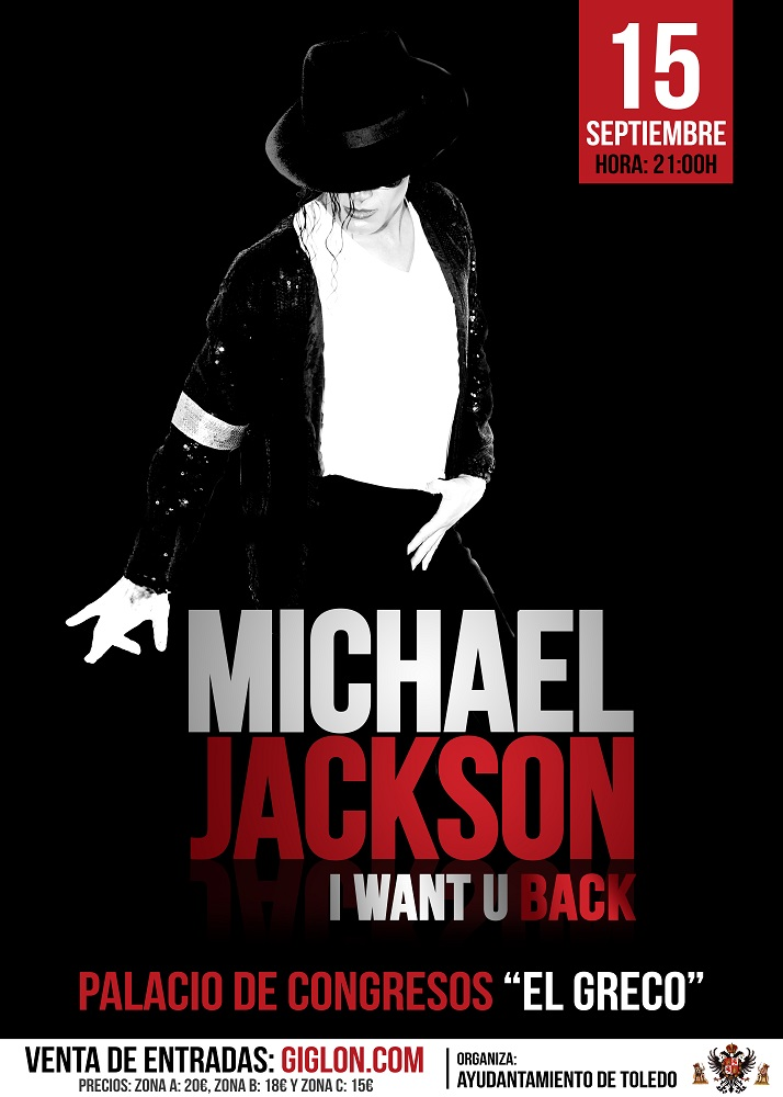 "http://www.toledo.es/wp-content/uploads/2018/08/michael-jackson.png. Espectáculo Musical Michael Jackson ""I want u back"""