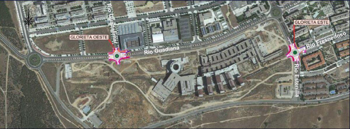 http://www.toledo.es/wp-content/uploads/2018/08/plano_rotondas_hospital-1200x443.jpg. El Ayuntamiento da el visto bueno a la construcción de dos rotondas de acceso al nuevo Hospital en Guadiana y Estenilla